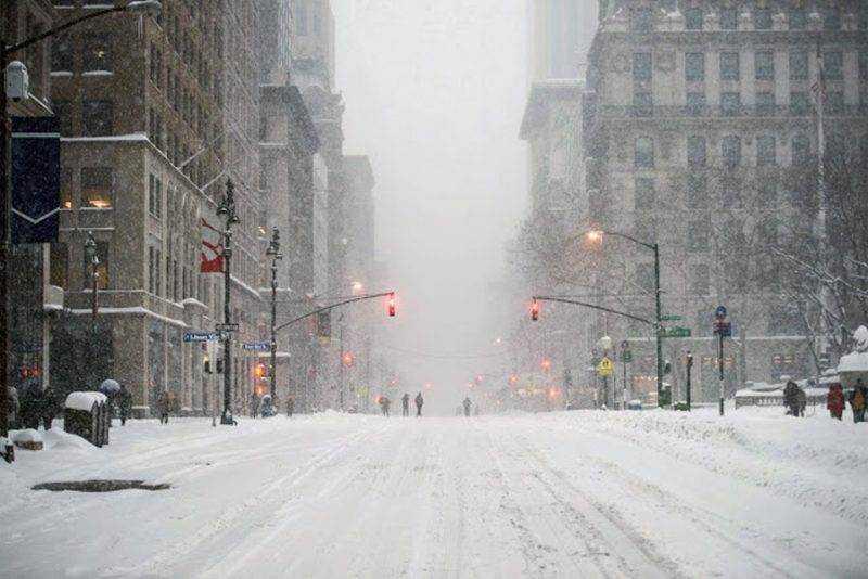 Tormenta invernal con potencia de ciclón impactará a Nueva York