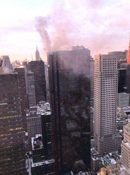 Fuego afecta la torre Trump en Manhattan