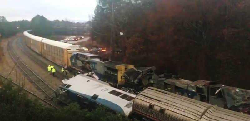 Dos muertos y 50 heridos accidente de tren en Carolina del Sur