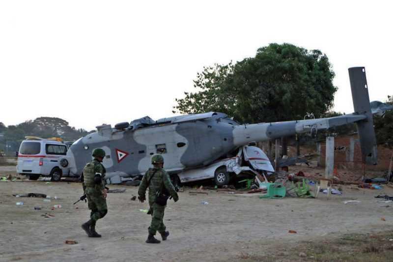 Al menos 13 fallecidos por accidente de helicóptero en México
