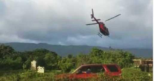 IDAC investiga sobre helicóptero aterrizó cerca de autopista Duarte