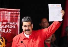Maduro formaliza candidatura a la reelección