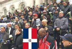 Taxistas dominicanos Nueva York realizan vigilia frente alcaldía