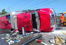 Puerto Plata: Seis bomberos resultan heridos en accidente