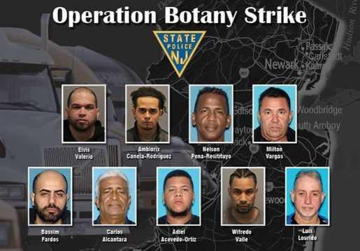 Dominicanos arrestados por robo de camiones cargados de mercancías