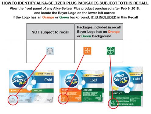 Bayer emite retiro voluntario Alka-Seltzer Plus en EEUU