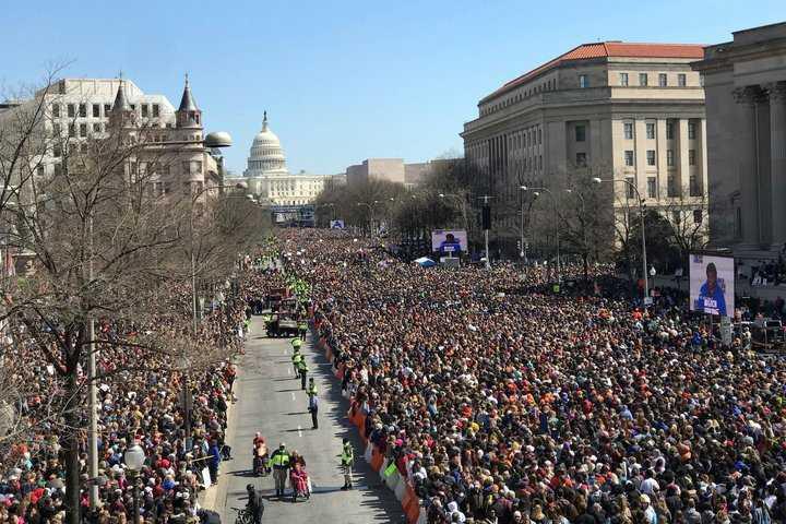 Miles exigen control de armas en Marcha por Nuestras Vidas
