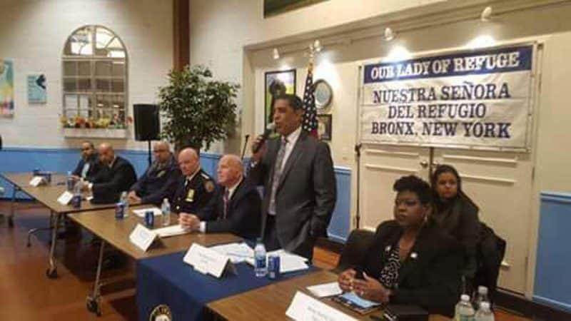 Congresista Espaillat se compromete seguir trabajando por seguridad Bronx