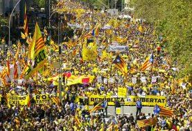 Marcha en Barcelona pide la libertad de independentistas catalanes