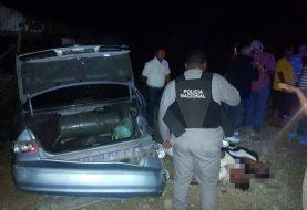 Dos muertos accidente carretera Licey-Moca