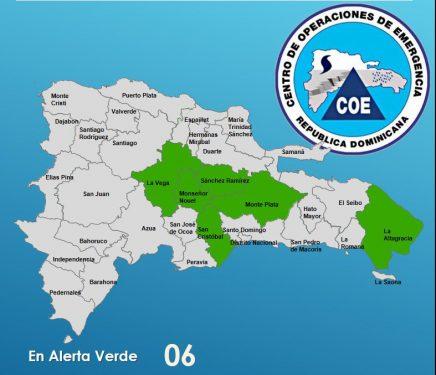 El COE mantiene alerta en seis provincias por lluvias