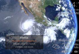 Aletta se fortalece a huracán categoría 4 en el Océano Pacífico