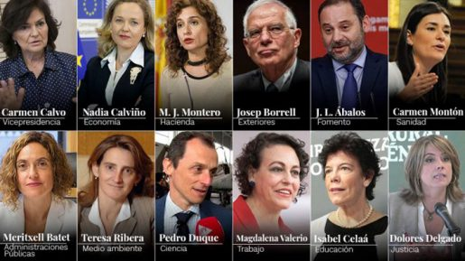 Nuevo gabinete español de corte feminista