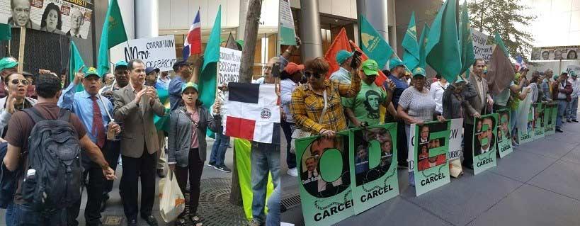 Dominicanos protestan frente a ONU por expediente Odebrecht RD