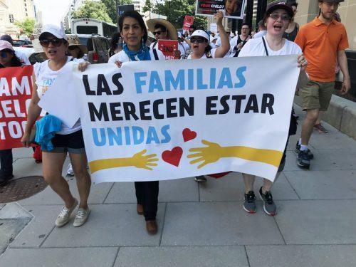 Protestas contra la separación de familias inmigrantes