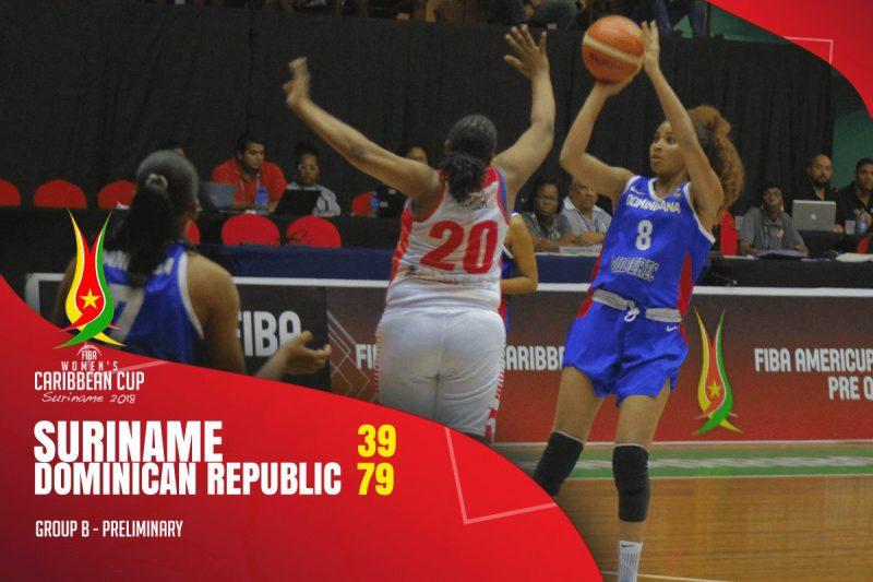 Selección dominicana femenina de basket gana en Surinam