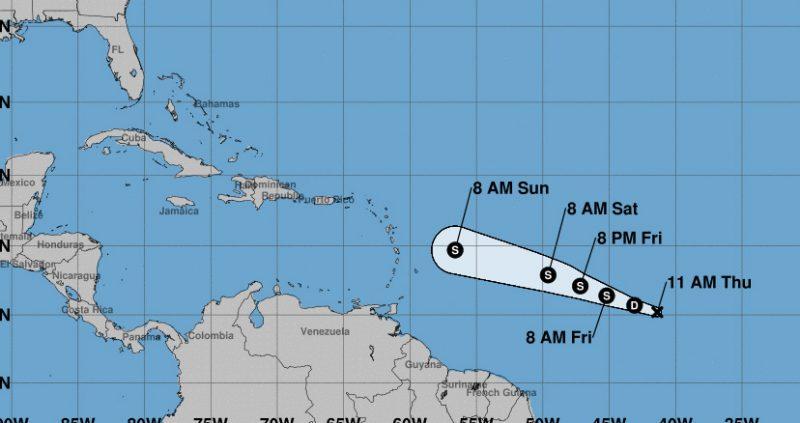Se forma en el Atlántico la depresión tropical número dos