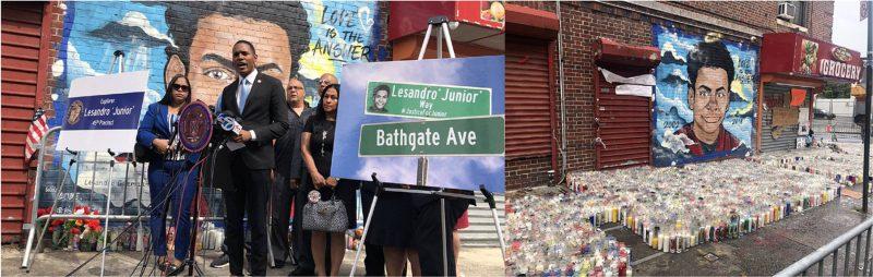 Calle El Bronx llevará nombre de Lesandro Junior Guzmán