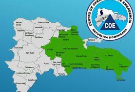 COE emite alerta verde para 14 provincias