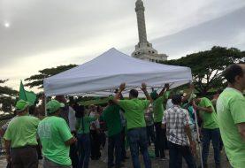 Marcha Verde reinstala campamento en área monumental