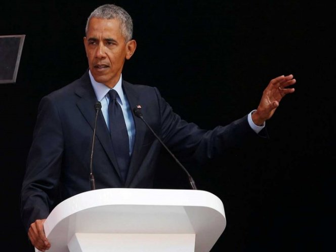 Obama rinde homenaje a Nelson Mandela