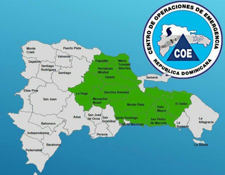 Varias provincias en alerta por lluvias