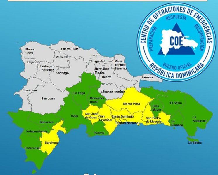 COE reporta 11 viviendas afectadas por remanentes de Isaac