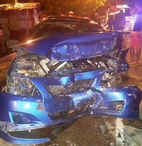 Dos muertos y cinco fiscales heridas en accidente de tránsito
