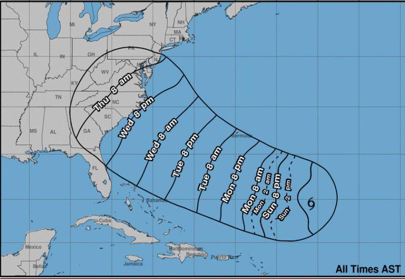 Florence se podría convertir en huracán hoy