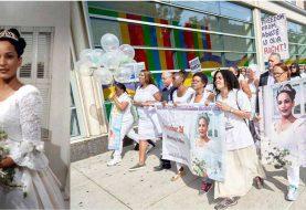 Recuerdan muerte dominicana con marcha de las novias