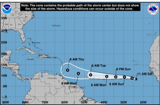 Se forma la tormenta tropical Kirk en el Atlántico