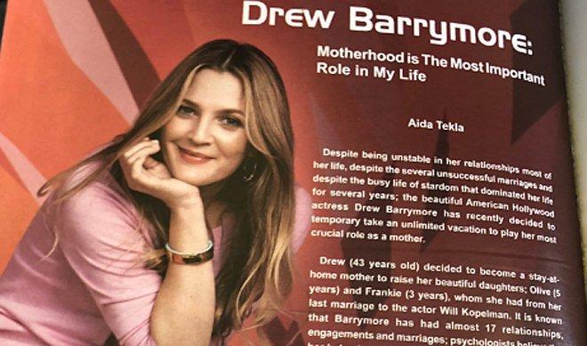 Cuestionan autenticidad entrevista Drew Barrymore