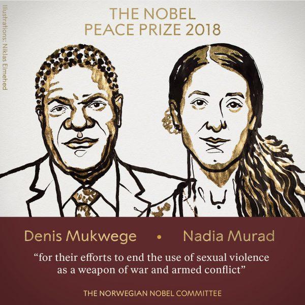 Denis Mukwege y Nadia Murad, Premio Nobel de la Paz 2018