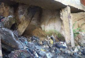 Lluvias afectan puente de la avenida Yapur Dumit