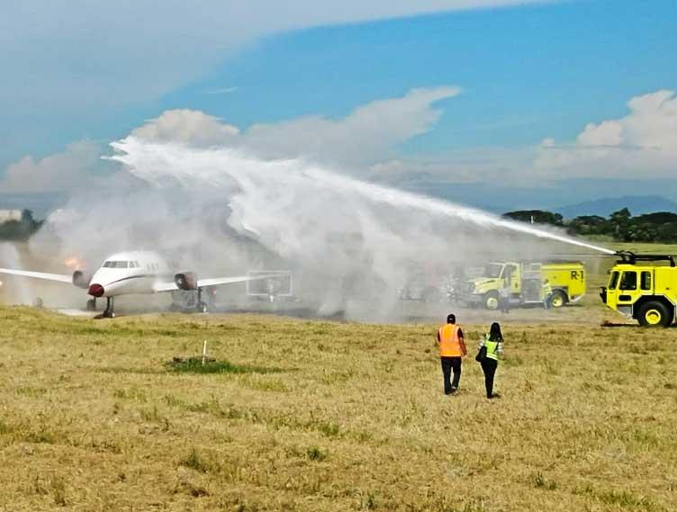 Aeropuerto Cibao realiza simulacro de accidente aéreo