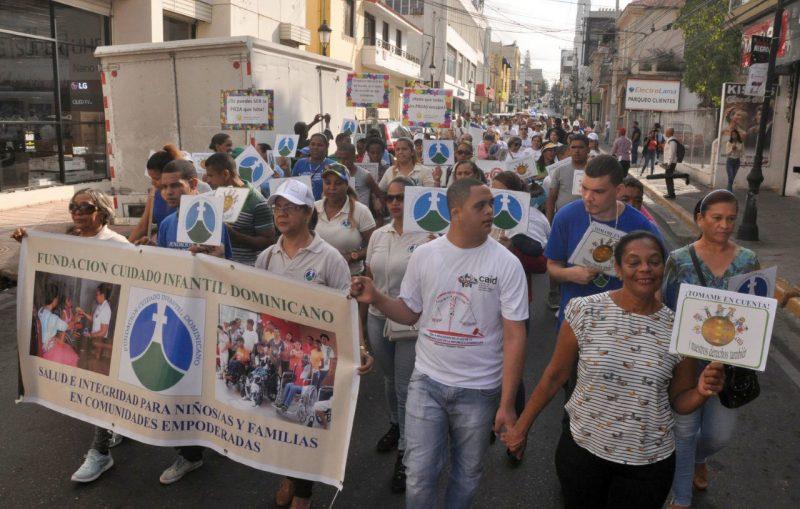 Marchan por la discapacidad en Santiago
