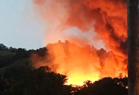 Fuego de grandes proporciones destruye ebanistería en La Vega