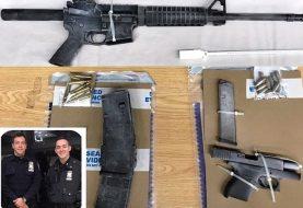 Policía Alto Manhattan incauta fusil AK-47