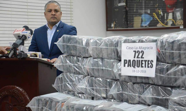 DNCD decomisa 722 paquetes de cocaína