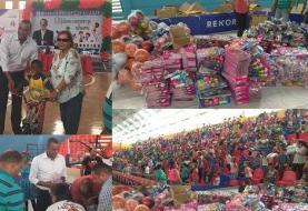 Fundación Carlos Gómez entrega miles de juguetes a niños de Moca
