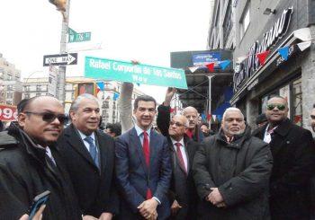 Honran a Corporán de los Santos en NY