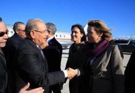Danilo Medina llega a Italia