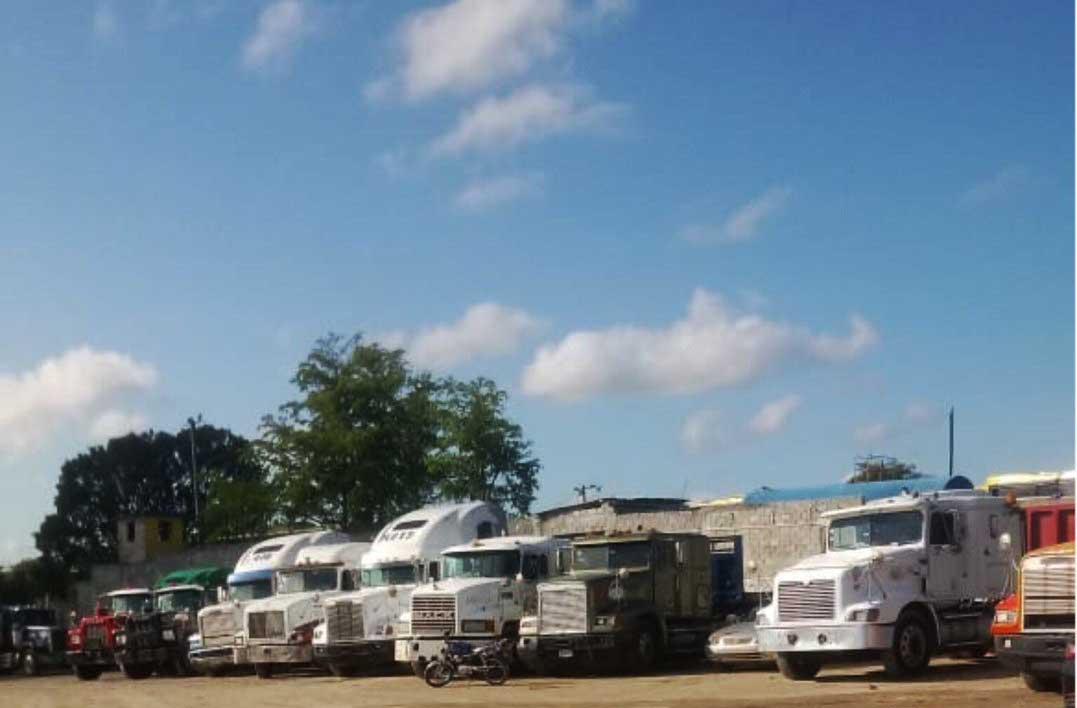 Camioneros paralizan transporte de carga