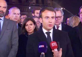 Macron promete reconstrucción catedral Notre Dame