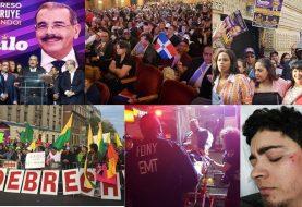 Masivo acto PLD-NY; protesta y heridos durante el mismo