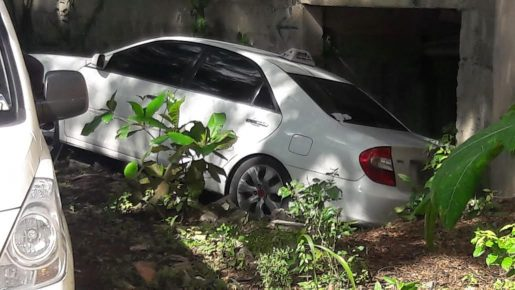 carro del taxista asesinado en santiago