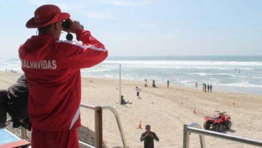 salvavidas observa en una playa
