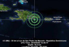 Temblor de tierra de 4.5 grados se siente en SPM
