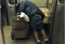 Desamparados fuera de control en subway NYC