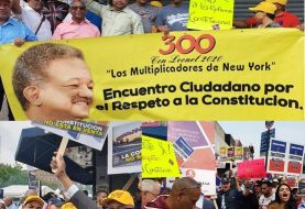 Se movilizan en NY contra intento modificar Constitución RD